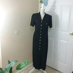 Vintage Positive Attitude Military Style Dress